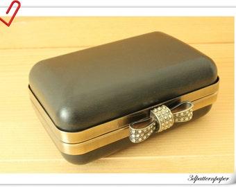 Box Purse frame for make a purse / bag 13.5cmx9cm  / Anti Bronze   K1