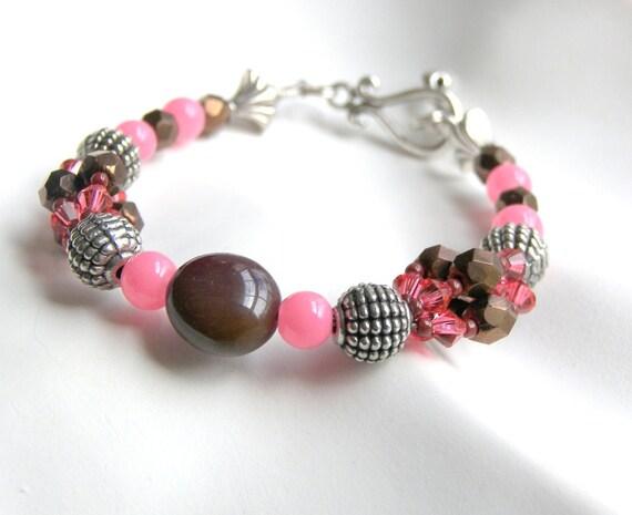 Pink Bracelet Brown Bracelet Beaded Bracelet Best Selling Bracelet Most Popular Jewelry Top Selling Bracelet Gifts