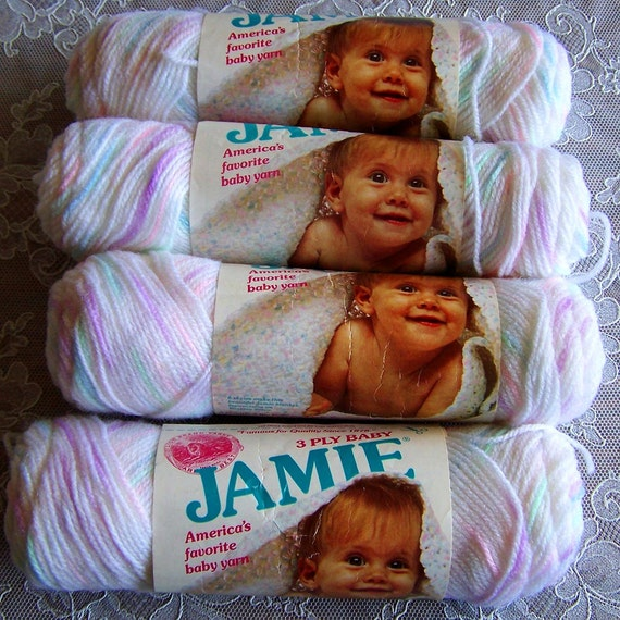 Baby Jamie Pompadour Yarn By Lion Brand Color Playtime Print