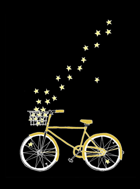 Starlight Bike - set of 5 postcards - ready to ship