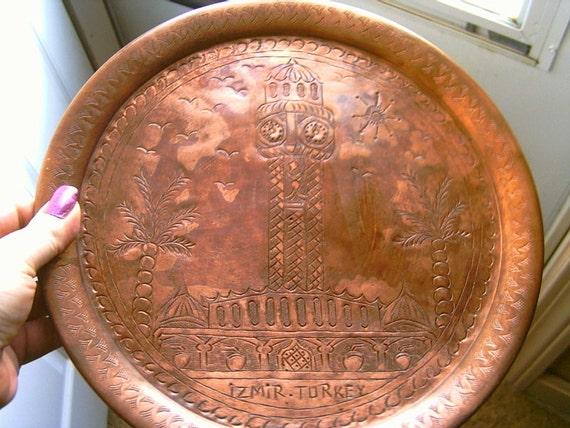 Copper Plate Souvenier from Turkey