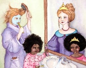 NEW Princesses in the Mirror 5x7 print