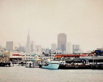 BUY 2 GET 1 FREE San Francisco Photography, fpoe, City View, The Bay, California, Neutral, Blue, Ocean - Beautiful San Francisco  Fine Art