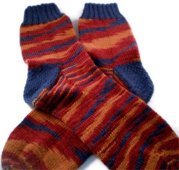 Hand Knit Men's Southwestern Striped Socks