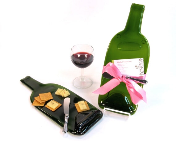 Cheese tray kiln fired melted wine bottle glass serving dish wine party first home gift - How do you melt glass bottles ...