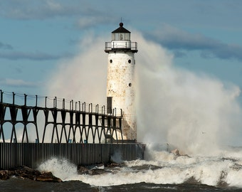 Manistee Lighthouse - Michigan Photography - Stock Photography