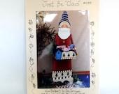 Santa Claus Tole Painting Pattern - Destash Never Used Folk Art Painting Santa Claus Box