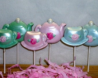 10 Chocolate Teapot and Teacup lollipops