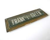 Vintage Name Plate
