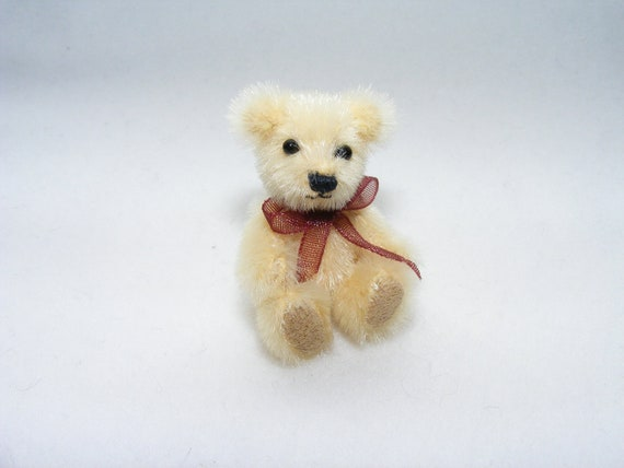 Tiny Miniature Jointed Artist  Bear