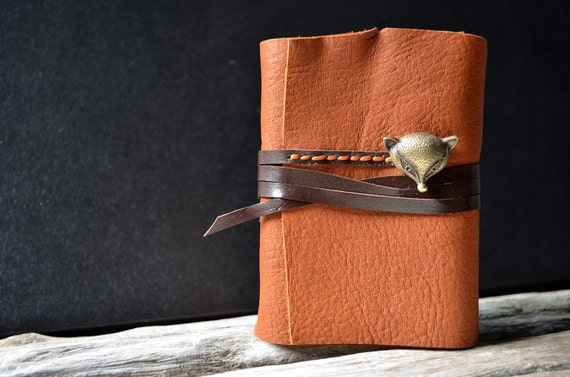 MiniBook A7 Fox & Red Brown Leather