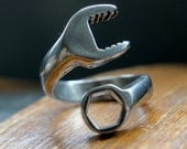 Spanner Wrench Ring Mens Wrench Ring Silver Spanner Wrench Ring 099