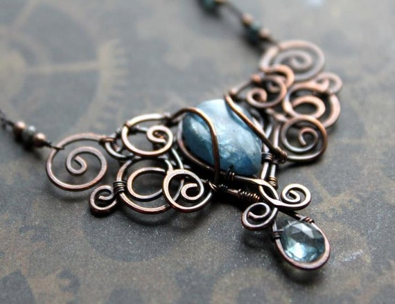 Danagonia enchanted jewelry new tutorial in this tutorial i will teach you how to make the storm pendant we will go through basic wire wrapping techniques such as how to set a briolette upside aloadofball Images