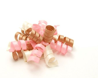 Neapolitan Mini Korker Bow, Satin Korker, Baby Toddler Girl Ivory Cream Pink Soft Chocolate Brown