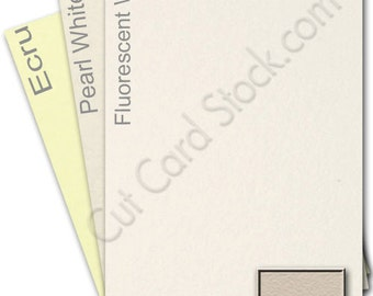 Crane & Co. 100% cotton LETTRA 110lb (297gsm) cardstock 8.5x11--25 sheets