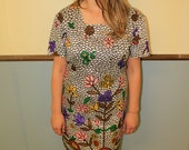 1990's Colorful and Carefree Vintage Dress  Size 18
