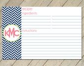Personalized Recipe Cards - Modern Recipe
