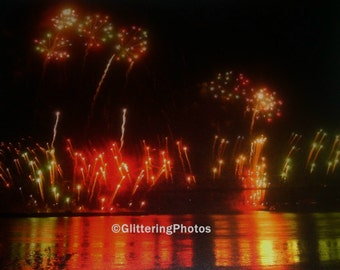 Fireworks, Thunder Over Louisville, No. 2, Fine Art, Photograph, Print, 8 x 10, Metallic, OOAK