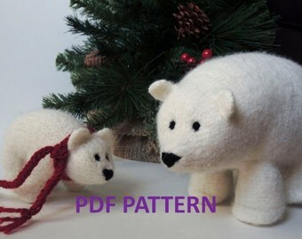 Knitting Pattern Polar Bear Stuffed Animal
