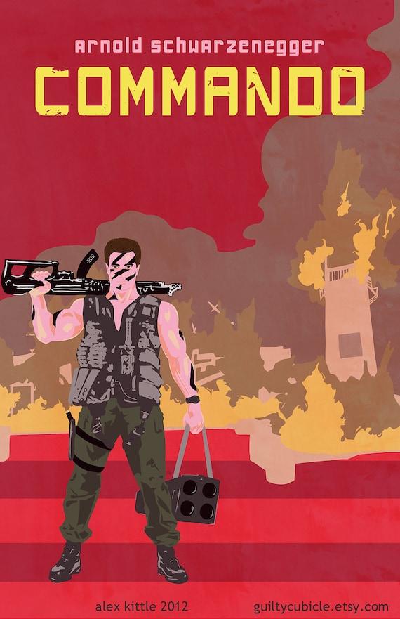COMMANDO Original Movie Poster