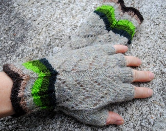 Half finger gloves: knitted lace. Ready to ship