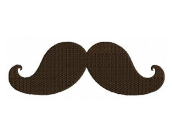 Mustache Moustache Machine Embroidery Designs 4x4 & 5x7 Instant Download Sale