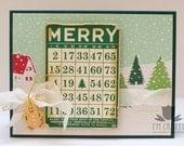 Handmade Card - Christmas Bingo