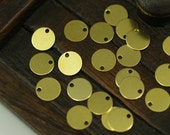 100 Pcs Raw Brass Round Tags, Charms, Findings, Stamping Tag (8 Mm) Brs75 ( A0288 )