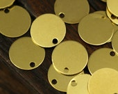 Cabochon Tag Bulk, 500 Raw Brass Cabochon Tags, Stamping Tags with 1 Loop  (10mm) Brs 71 A0289