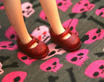 Middie Blythe Red with Red Glitter Mary Jane shoes