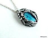 Paua Shell silver necklace