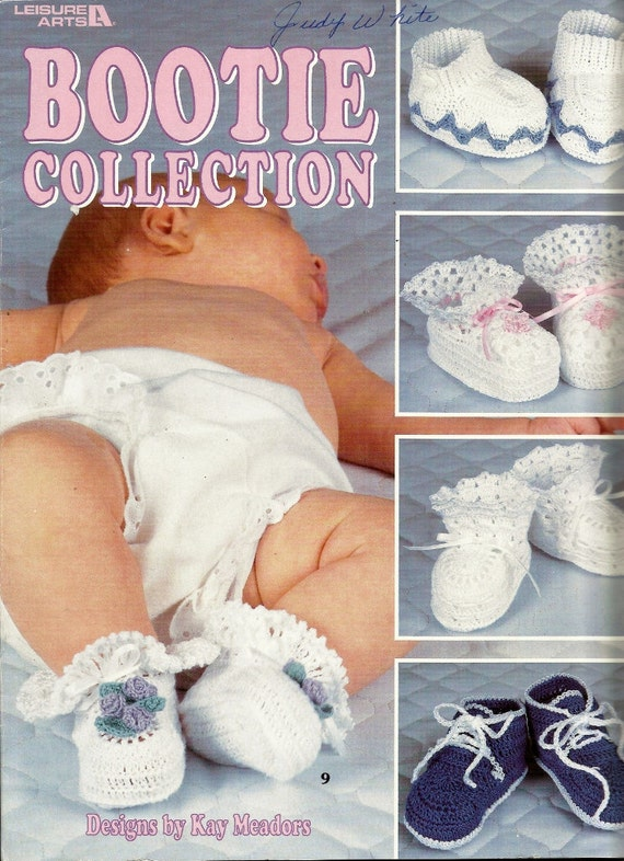 Crocheted Bootie Collection Leisure Arts 3052