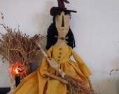 Primitive Halloween Witch Brooms 4 Sale 31 inches OOAK Primitive Doll FITOFG Ofg Team Halloween 247 TeamEtsyFolk FTTeam