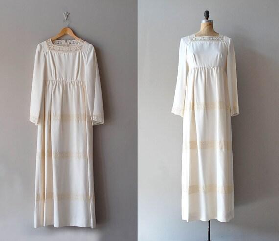 1970s dress / vintage 70s wedding dress / Bohemian Wedding dress