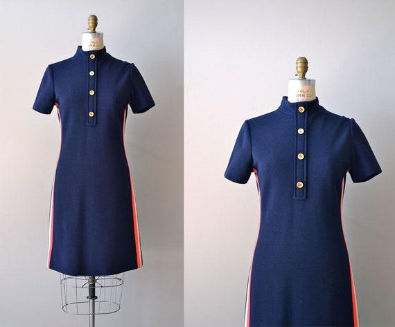 S A L E .... 1960s dress / 60s mod dress / Racing Stripe dress