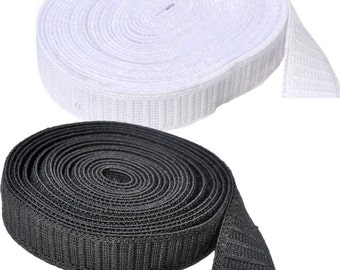 Non Roll ELASTIC- Non Roll- 10 yards of  non-roll elastic 1 inch Select Color White or Black