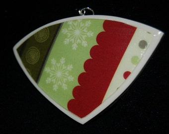 Holiday Inspired Polymer Clay Pendant