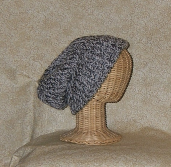 Slouch Hat Knit Brown and Tan