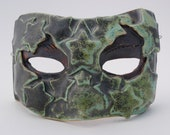 ceramic mask sculpture art clay face life size home decor wall half mask
