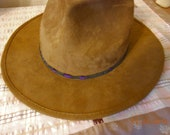 Beaded Hat Band  Gray, Black, Lavender
