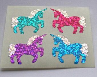 Rare Hambly Prism Colorful Unicorns Sticker Mod