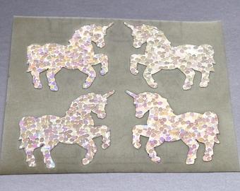 Very Rare Hambly Prism Silver Unicorns Silhouette Sticker Mod