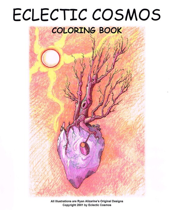 Eclectic Cosmos Coloring Book, Unique trees to color, suitable for All Ages