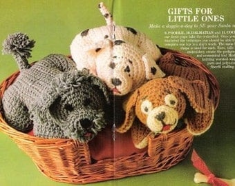 Vintage Crochet Pattern - Puppies