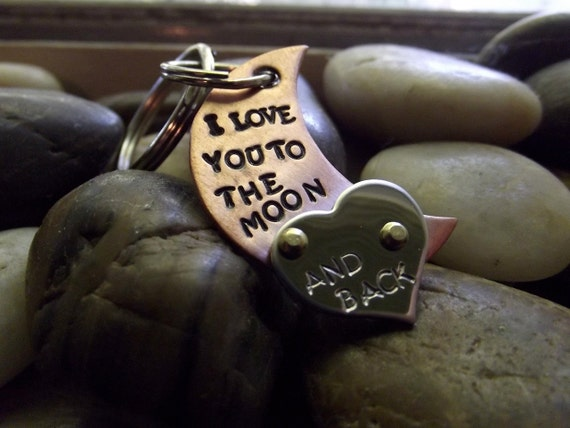 Love to the moon keychain