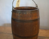 Vintage Wooden Oaken Bucket