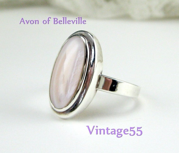 Vintage Ring Sterling Agate Avon of Belleville size 11