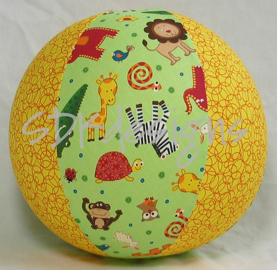 Balloon Ball TOY - Zoo Animals Galore - great Christmas Stocking Stuffer  - As seen with Michelle Obama on Parenting.com