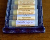 Three Organic Lip Balms from Mirasol Farm. No artificial flavors or sweeteners.