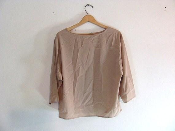 vintage Nude slouchy secretary shirt / blouse size 16 XL